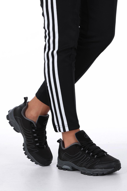Czarne buty sportowe sznurowane softshell Casu B1531-1 sezon Całoroczny