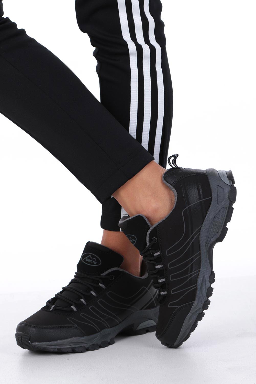 Czarne buty sportowe sznurowane softshell Casu B1531-1 wysokosc_obcasa 3.5 cm
