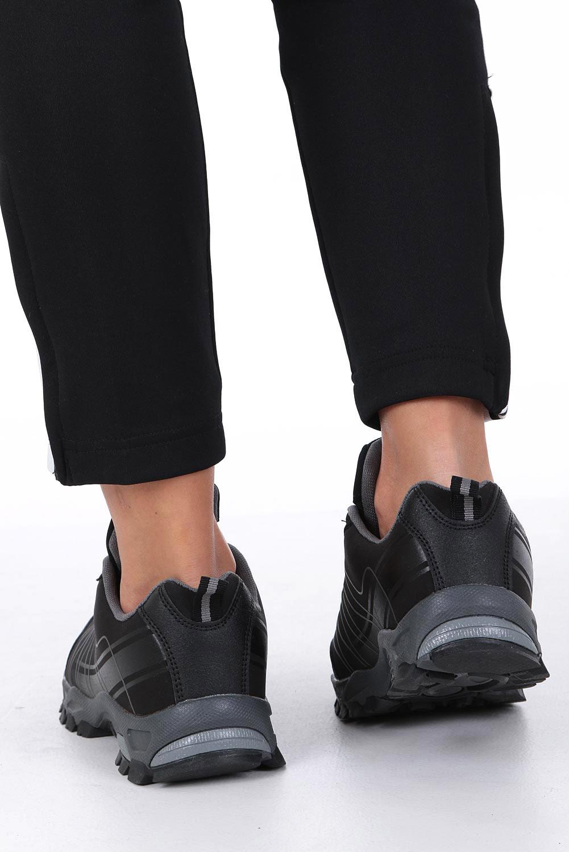Czarne buty sportowe sznurowane softshell Casu B1531-1 wysokosc_platformy 1 cm