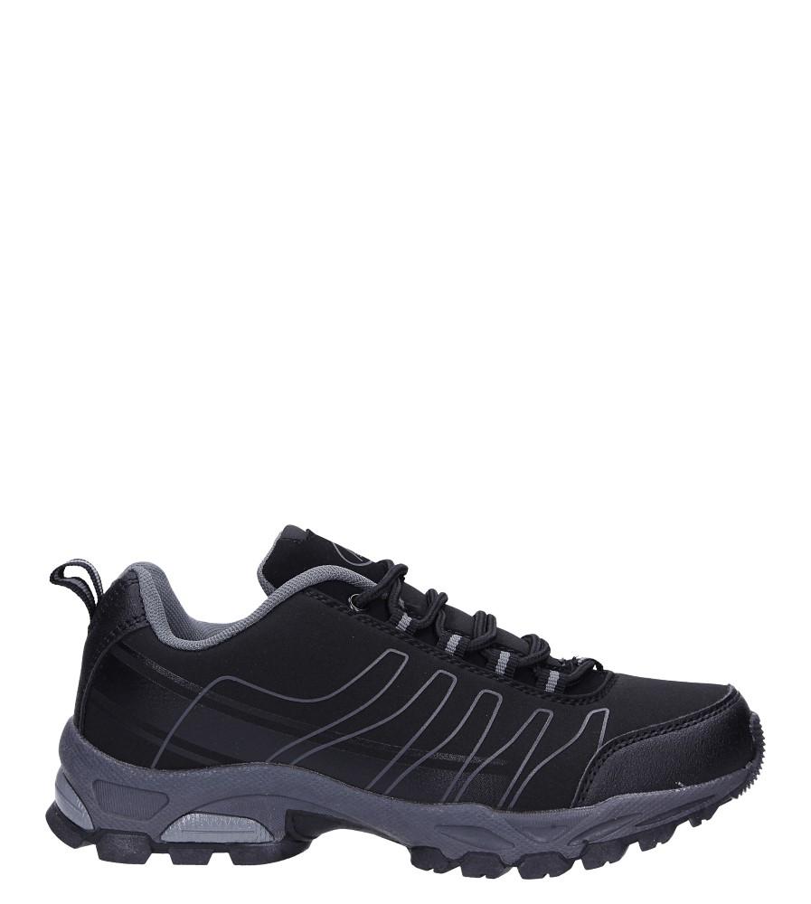 Czarne buty sportowe sznurowane softshell Casu B1531-1 wys_calkowita_buta 12 cm