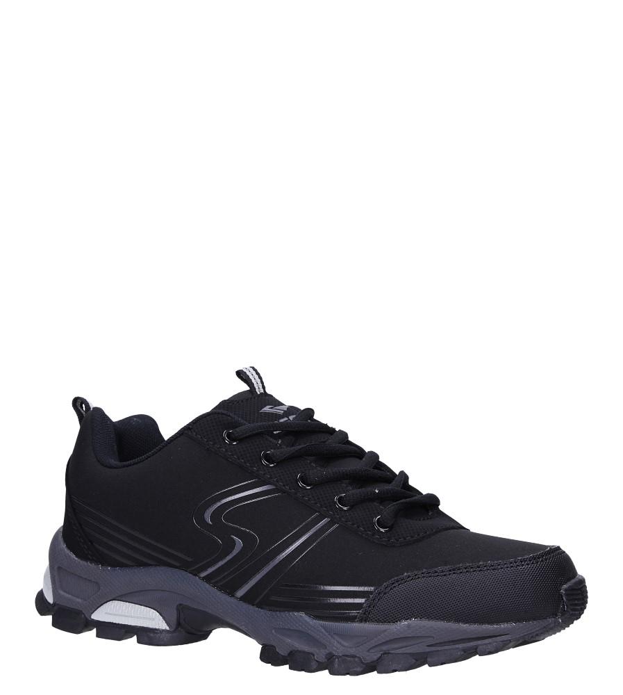 Czarne buty sportowe sznurowane softshell Casu B1808-1 czarny