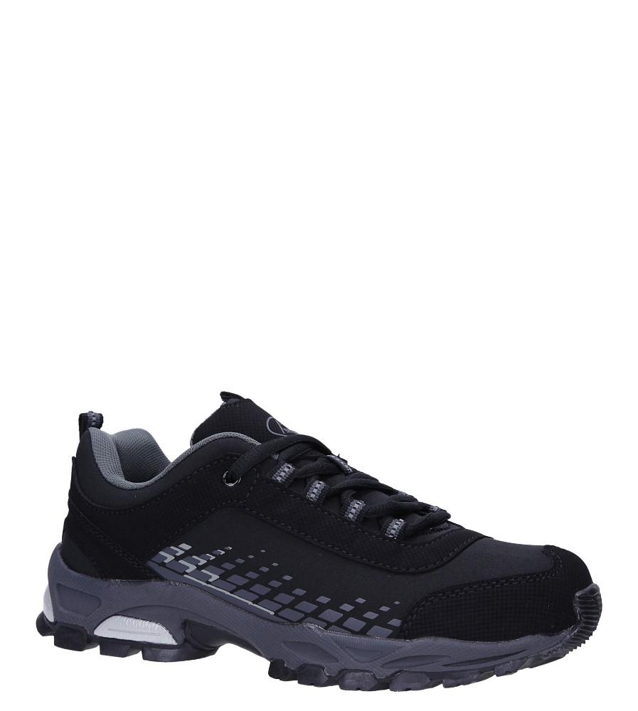 Czarne buty sportowe sznurowane softshell Casu B1809-1 czarny