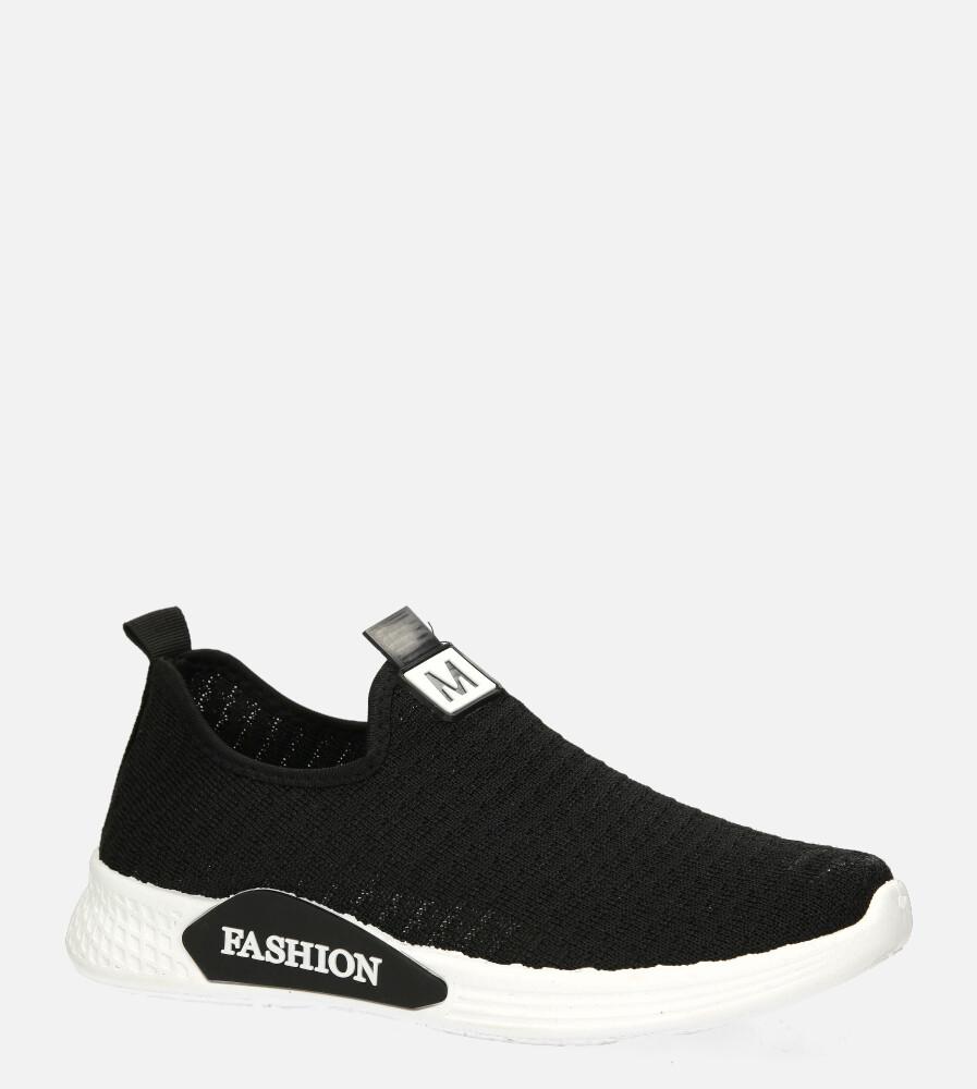 Czarne buty sportowe wsuwane Casu 20P5/M czarny