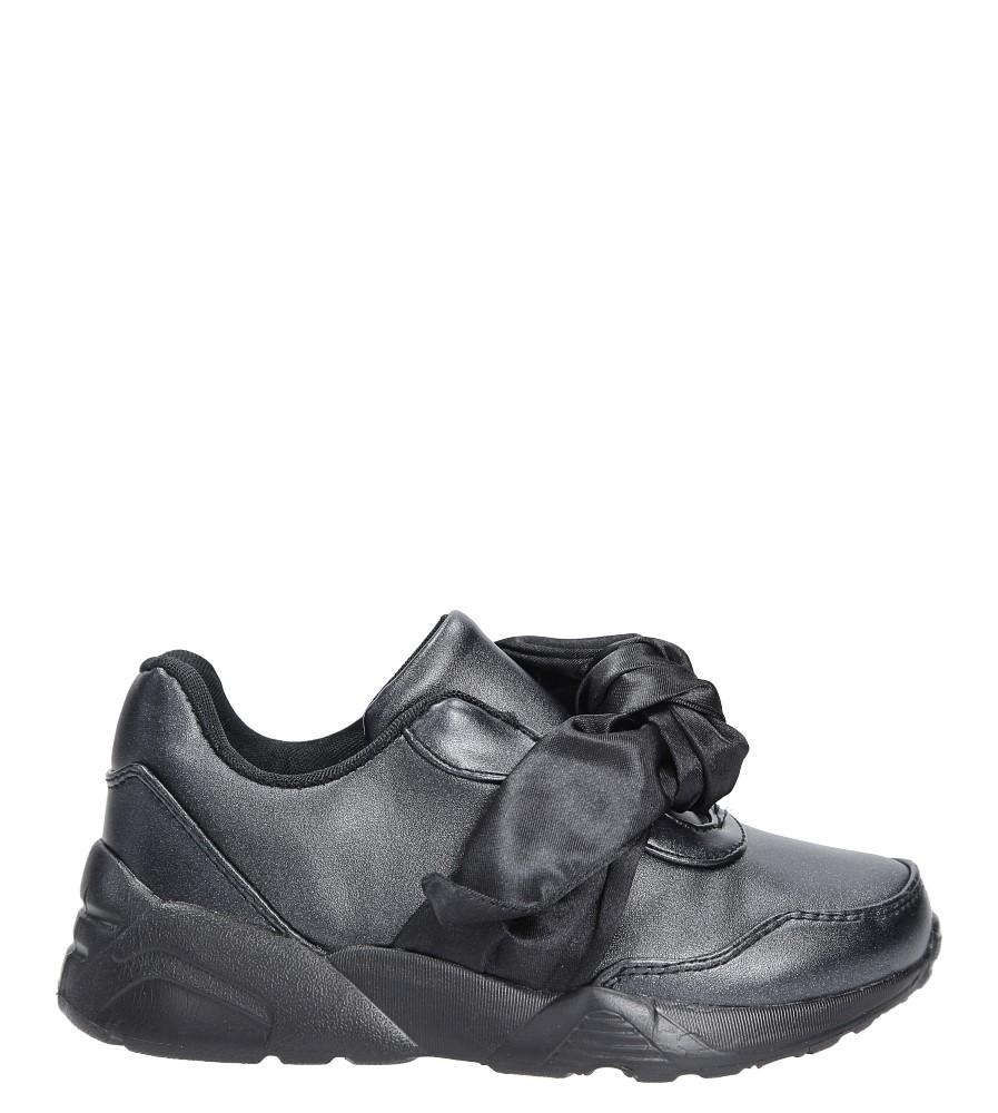 Czarne buty sportowe z kokardą Casu C12033-2