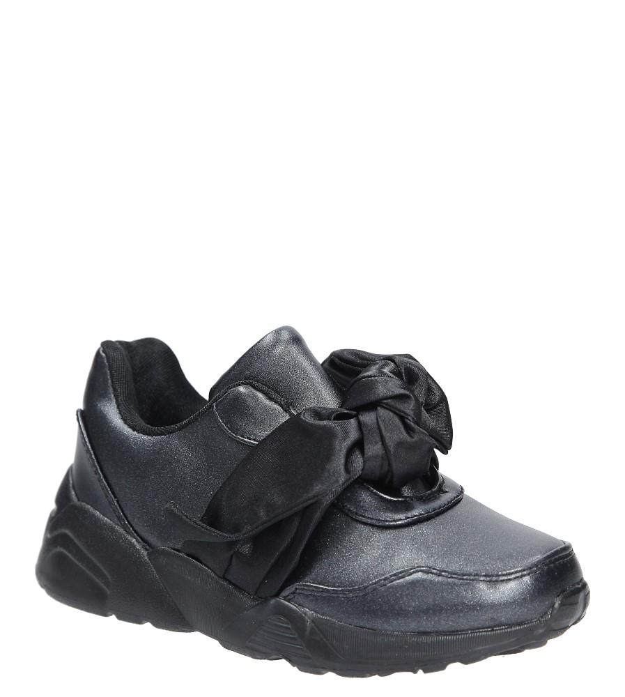 Czarne buty sportowe z kokardą Casu C12033-3
