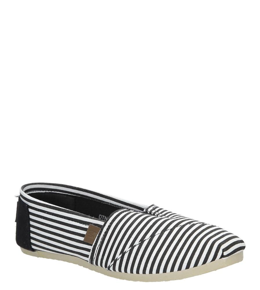 Czarne buty tomsy w paski Mckey DTN117/16BK czarny
