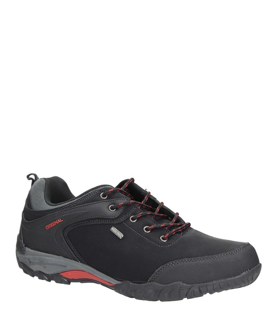 Czarne buty trekkingowe Casu EXC7567