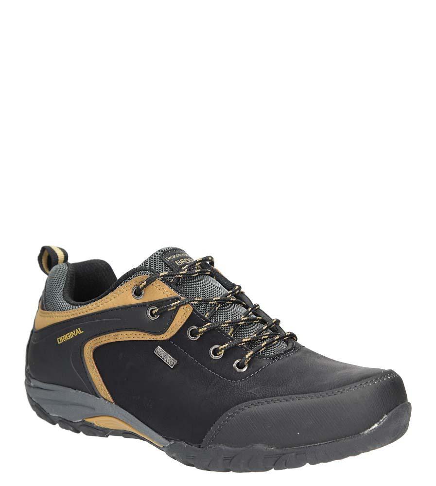 Czarne buty trekkingowe Casu MXC7567