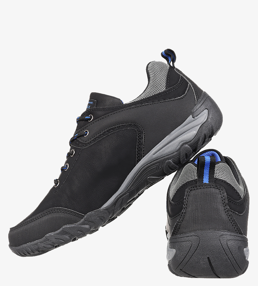 Czarne buty trekkingowe Casu MXC7567 sezon Całoroczny