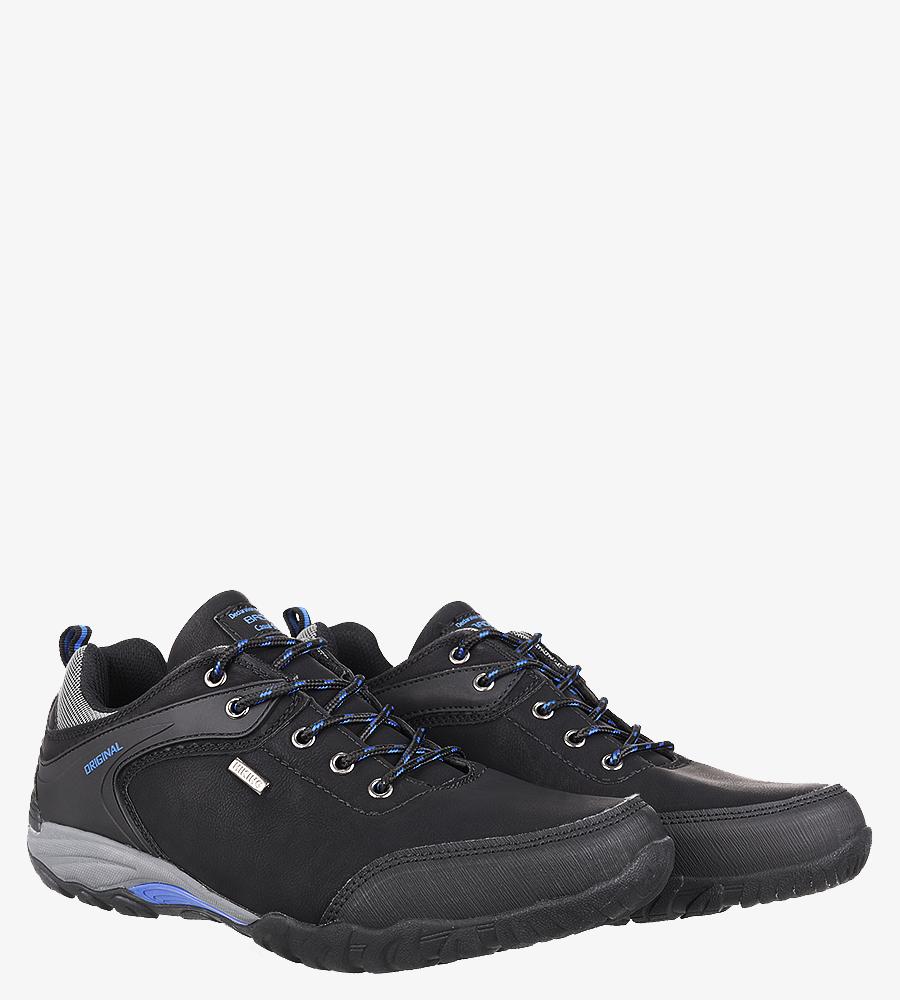 Czarne buty trekkingowe Casu MXC7567 kolor czarny, niebieski