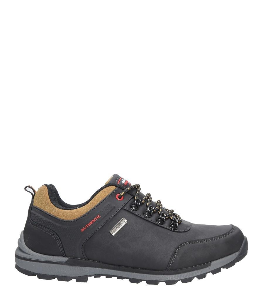 Czarne buty trekkingowe Casu MXC7628
