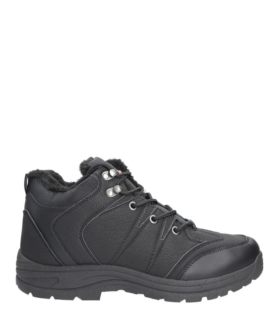Czarne buty trekkingowe sznurowane Casu 313