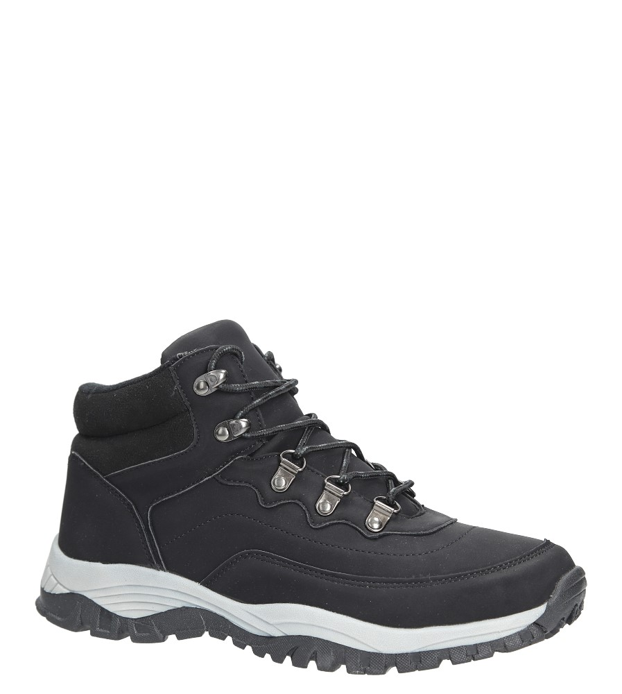 Czarne buty trekkingowe sznurowane Casu 612-1 producent Casu
