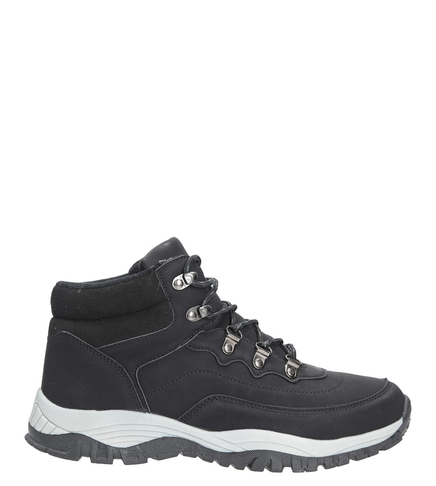 Czarne buty trekkingowe sznurowane Casu 612-1