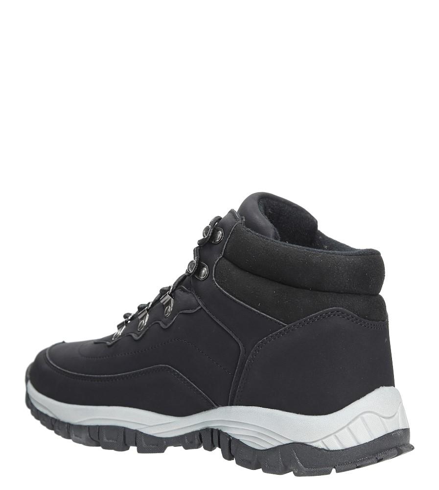 Czarne buty trekkingowe sznurowane Casu 612-1 sezon Zima