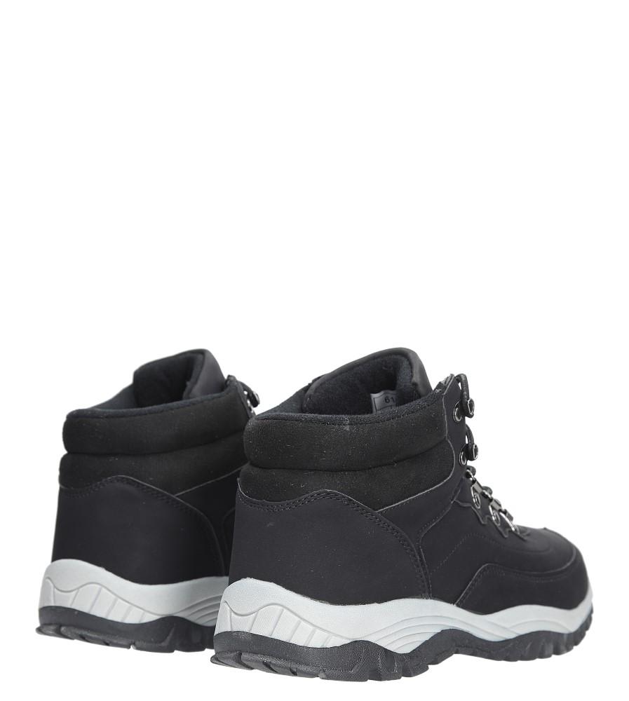 Czarne buty trekkingowe sznurowane Casu 612-1 kolor czarny