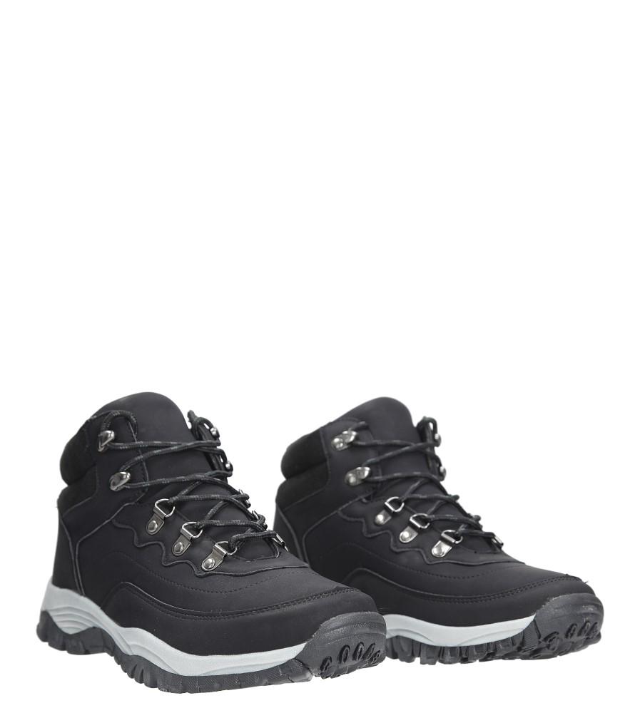 Czarne buty trekkingowe sznurowane Casu 612-1 wysokosc_obcasa 3.5 cm