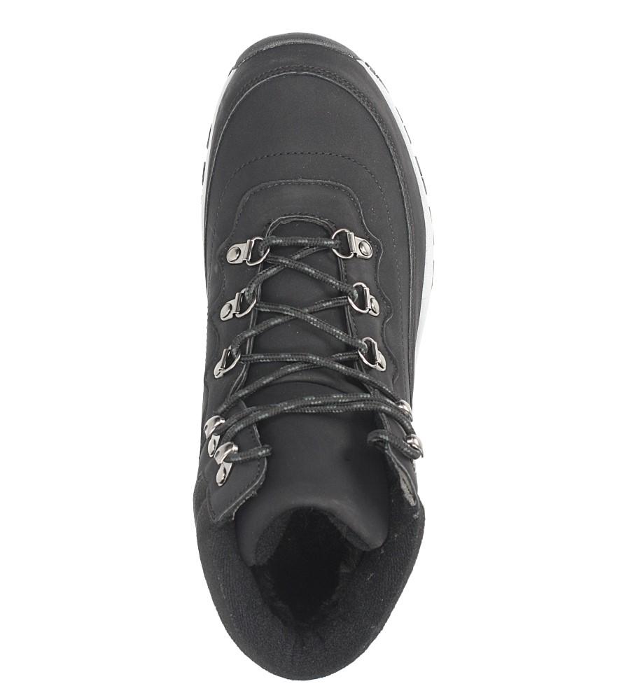 Czarne buty trekkingowe sznurowane Casu 612-1 wysokosc_platformy 1.5 cm