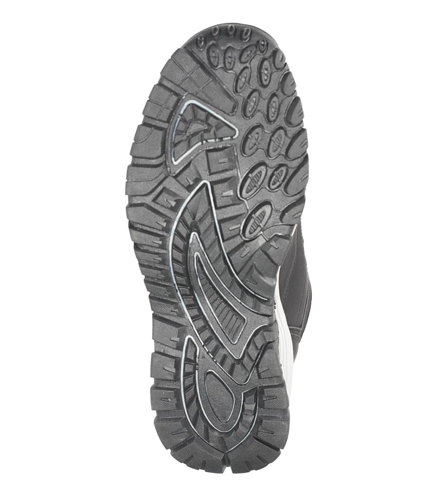 Czarne buty trekkingowe sznurowane Casu 612-1 wys_calkowita_buta 17 cm
