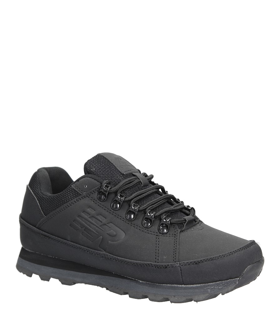 Czarne buty trekkingowe sznurowane Casu 7ACH-17000 czarny