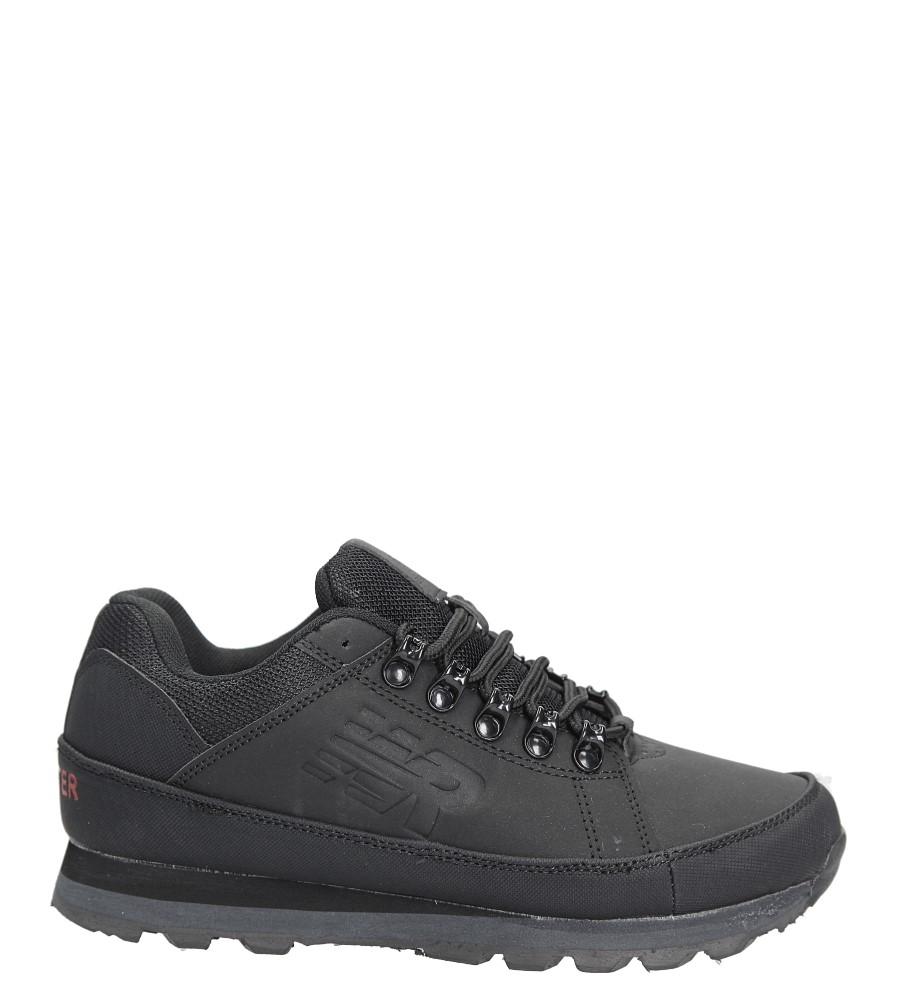 Czarne buty trekkingowe sznurowane Casu 7ACH-17000