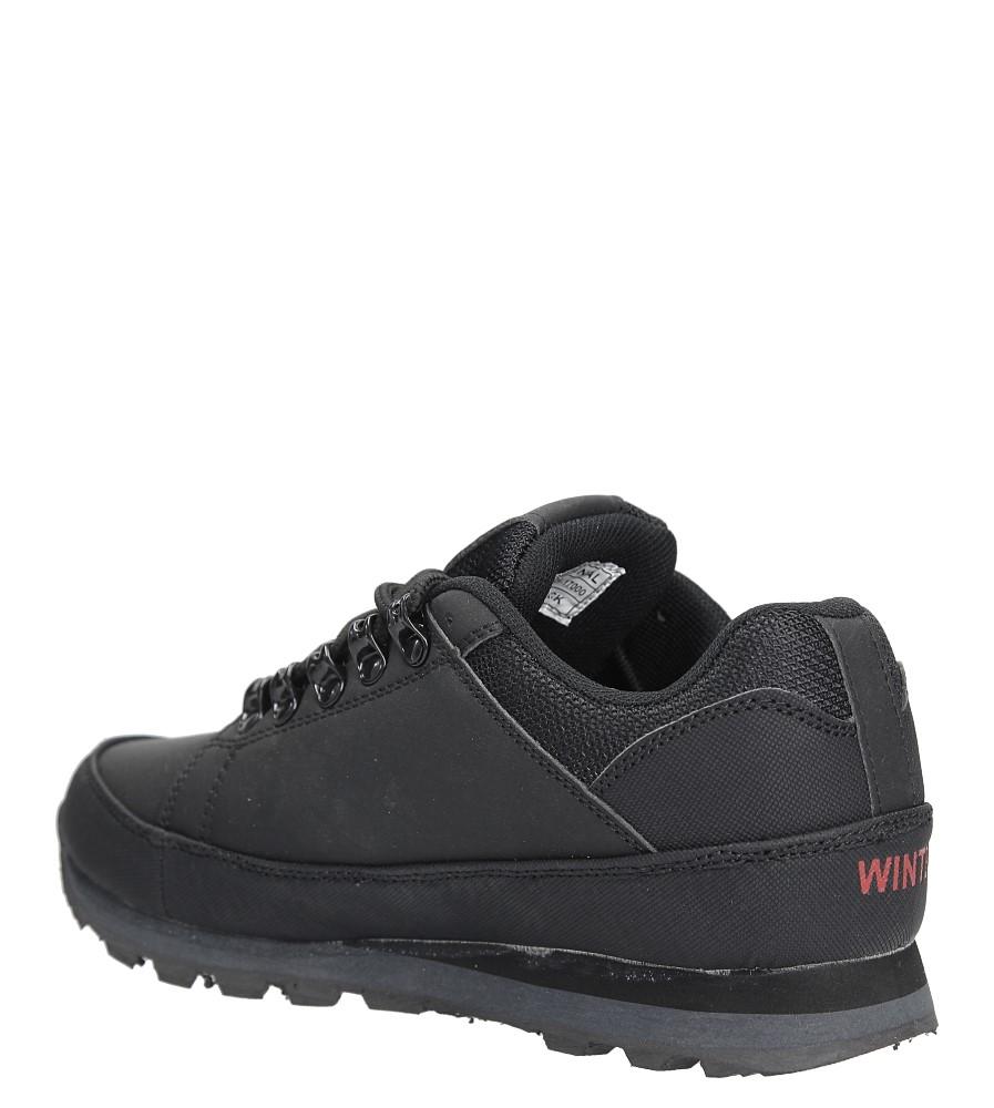 Czarne buty trekkingowe sznurowane Casu 7ACH-17000 sezon Całoroczny