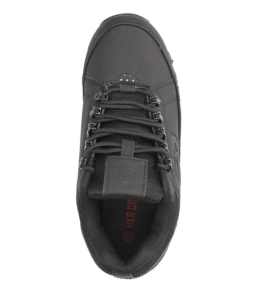 Czarne buty trekkingowe sznurowane Casu 7ACH-17000 kolor czarny