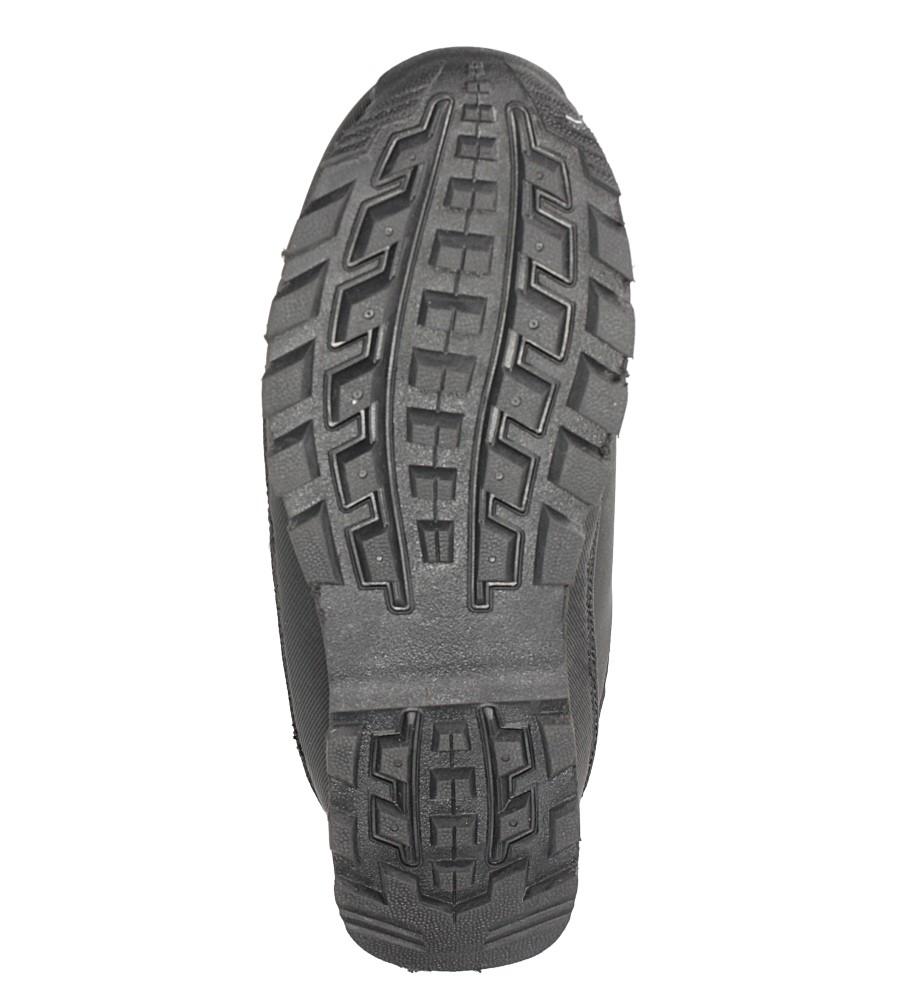 Czarne buty trekkingowe sznurowane Casu 7ACH-17000 wysokosc_platformy 1.5 cm