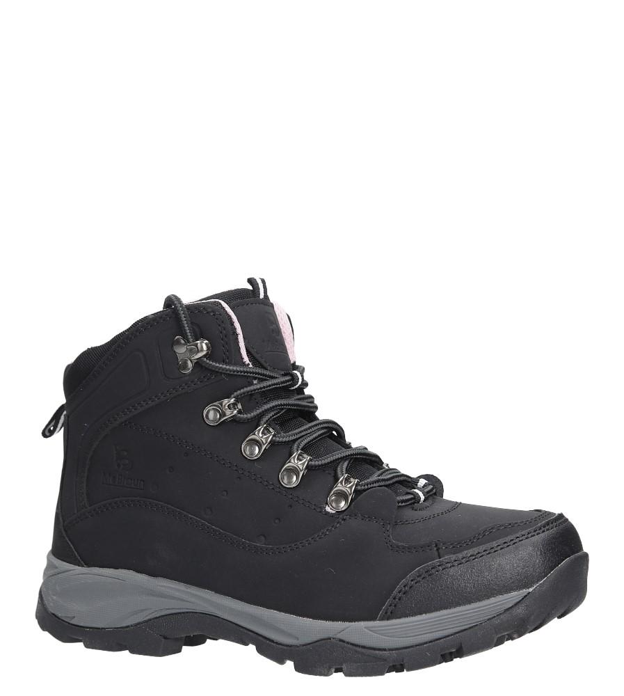 Czarne buty trekkingowe sznurowane Casu 8TR85-0549