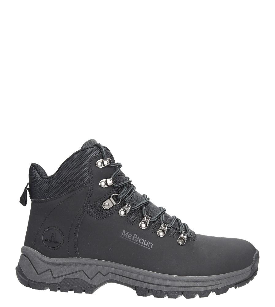 Czarne buty trekkingowe sznurowane Casu 8TR85-0654