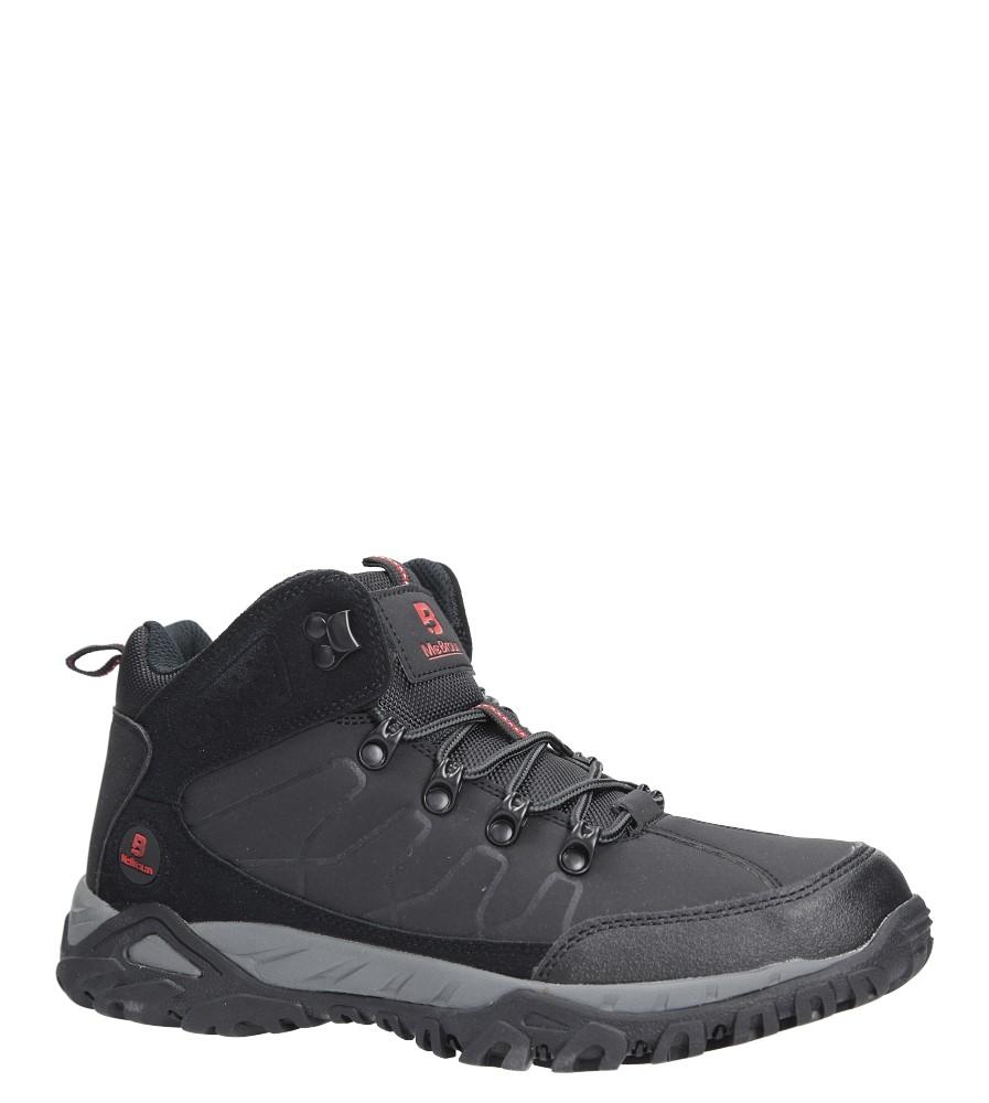 Czarne buty trekkingowe sznurowane Casu 8TR85-0691 producent Casu