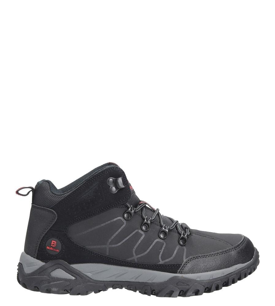 Czarne buty trekkingowe sznurowane Casu 8TR85-0691