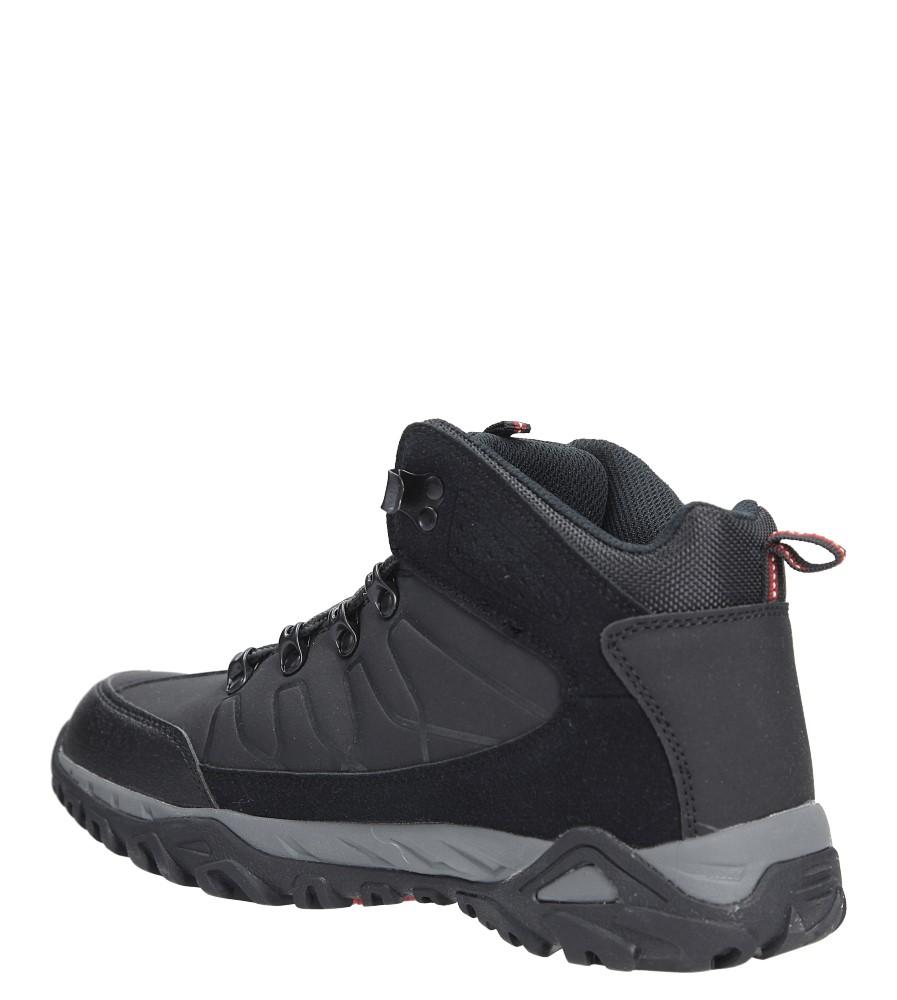 Czarne buty trekkingowe sznurowane Casu 8TR85-0691 sezon Zima