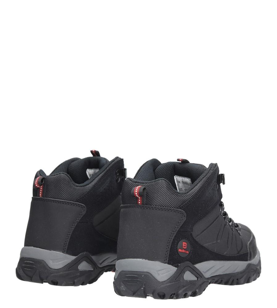 Czarne buty trekkingowe sznurowane Casu 8TR85-0691 kolor czarny