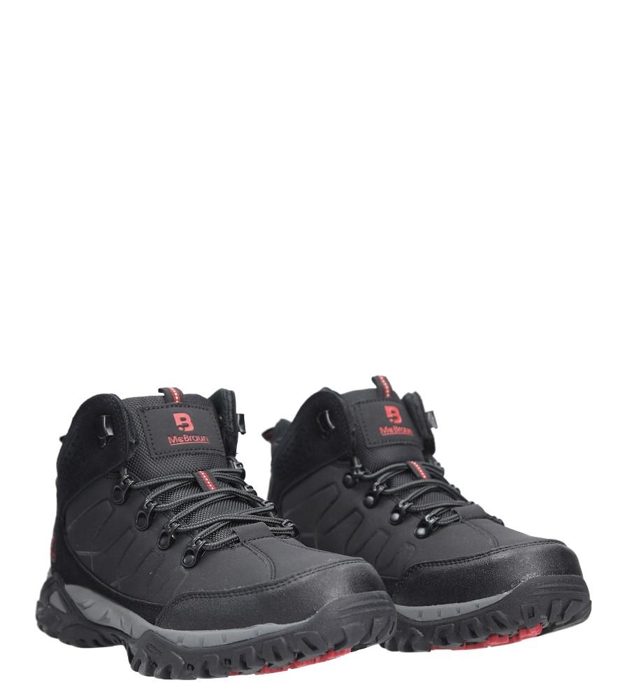 Czarne buty trekkingowe sznurowane Casu 8TR85-0691 wysokosc_obcasa 4 cm