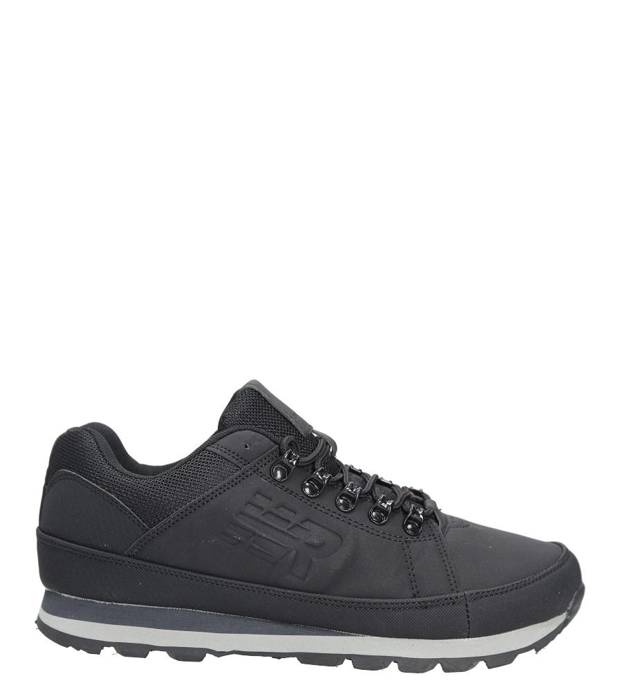 Czarne buty trekkingowe sznurowane Casu 9ACH-17000