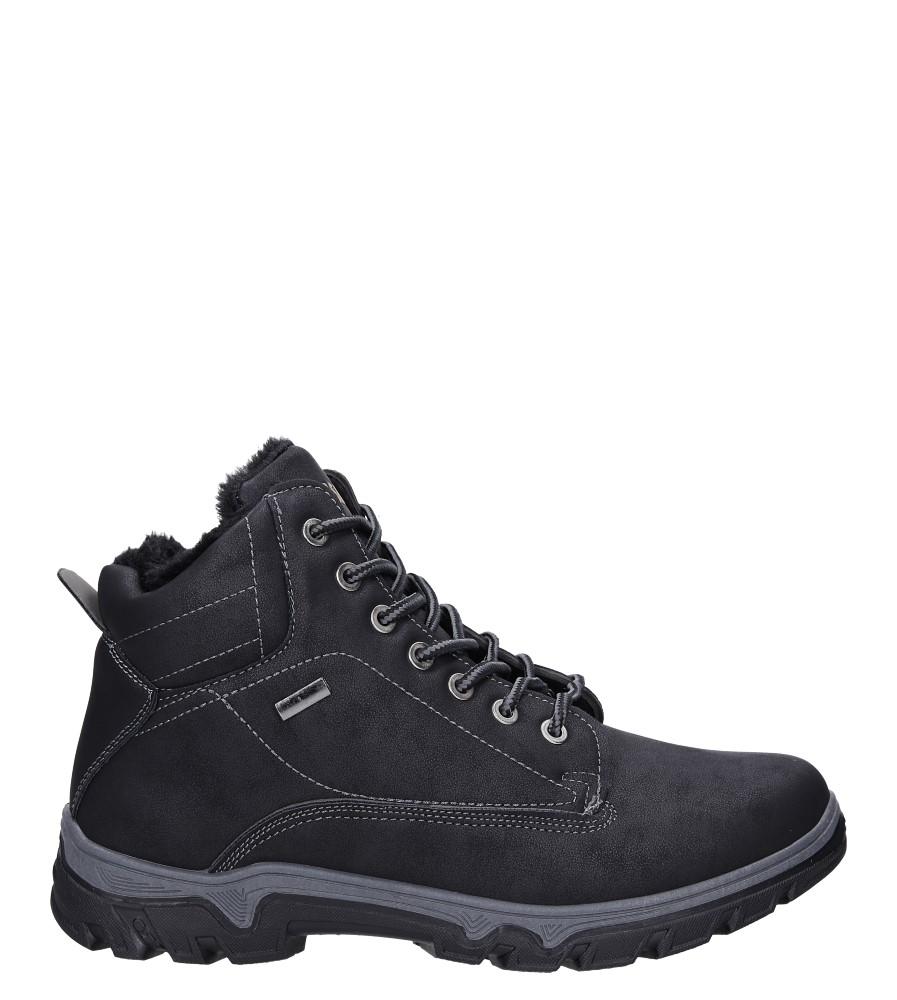 Czarne buty trekkingowe sznurowane Casu A260-1 czarny