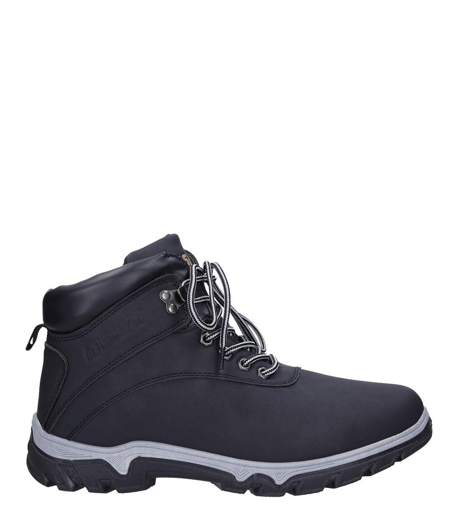 Czarne buty trekkingowe sznurowane Casu A262-1