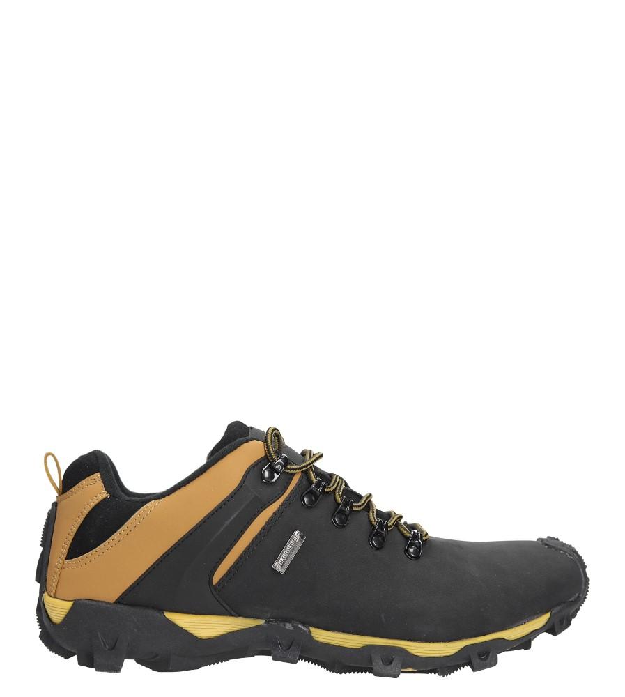 Czarne buty trekkingowe sznurowane Casu EXC6645