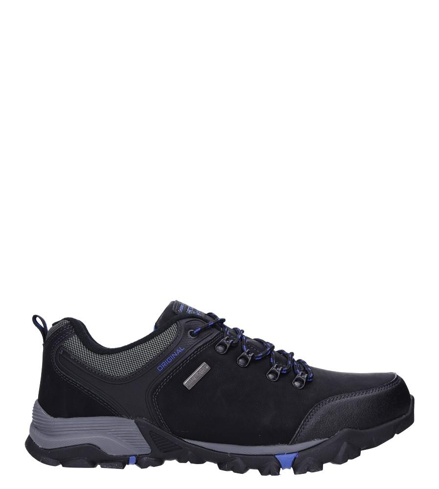 Czarne buty trekkingowe sznurowane Casu EXC7608