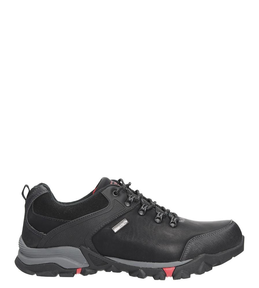 Czarne buty trekkingowe sznurowane Casu EXC7609