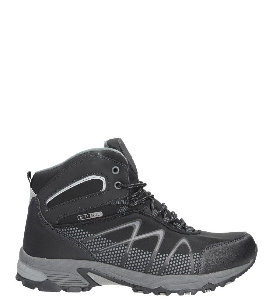 Czarne buty trekkingowe sznurowane Casu MXC7431-W