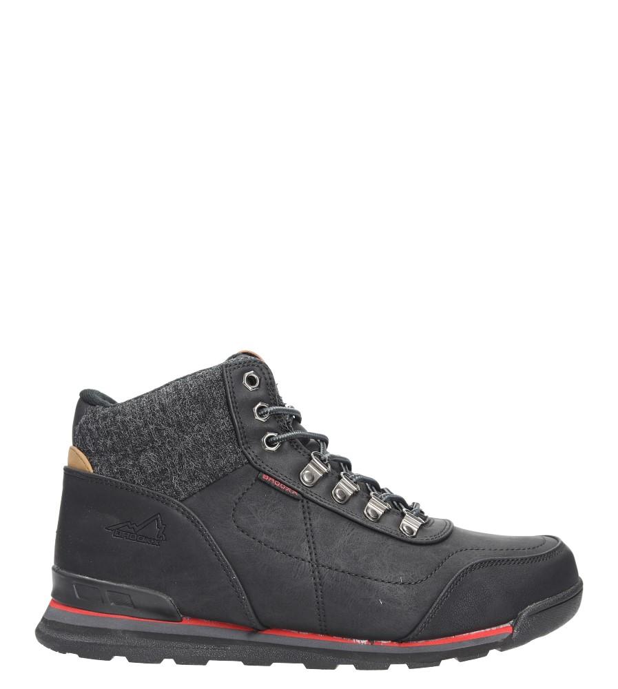 Czarne buty trekkingowe sznurowane Casu MXC7585-W