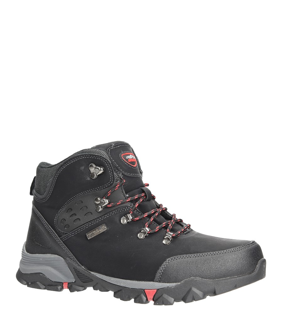 Czarne buty trekkingowe sznurowane Casu MXC7594-W czarny