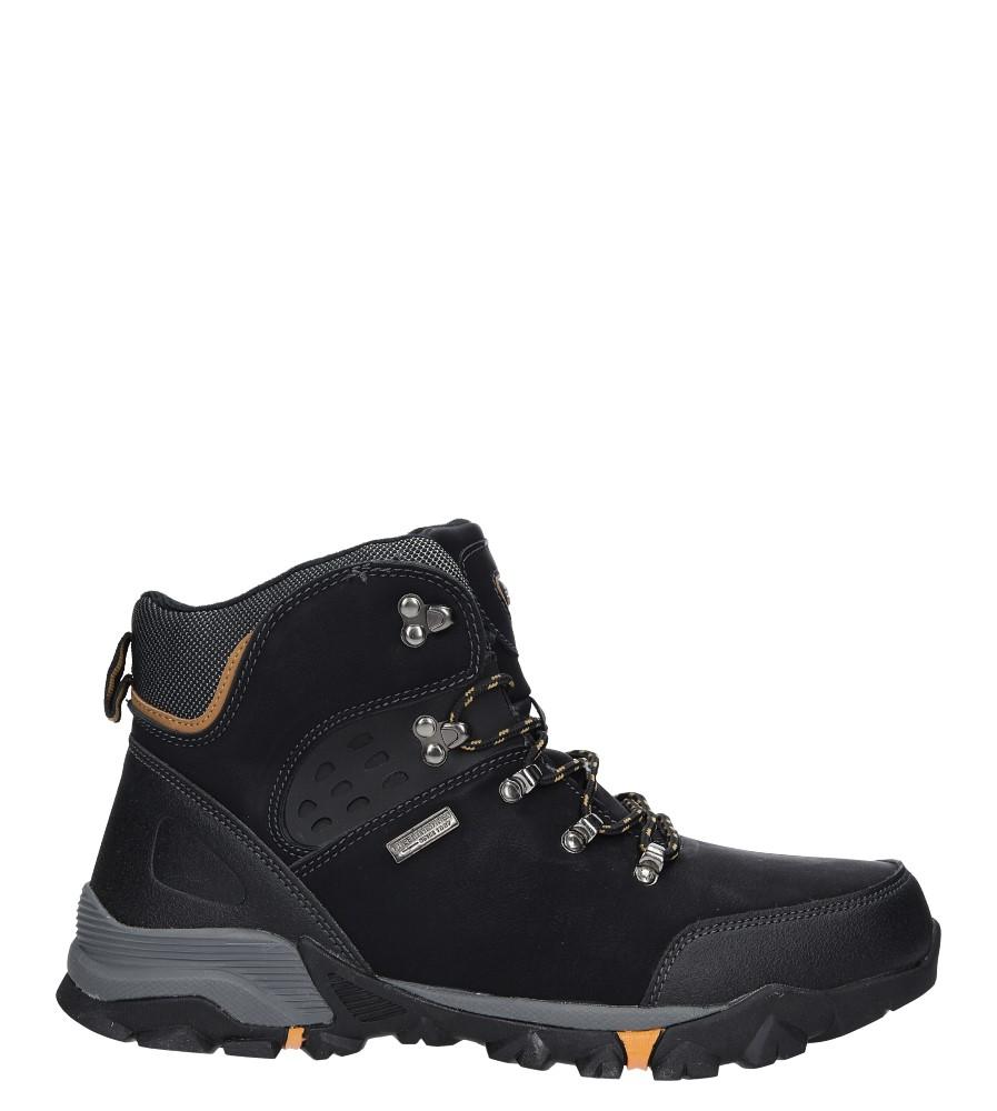 Czarne buty trekkingowe sznurowane Casu MXC7594-W