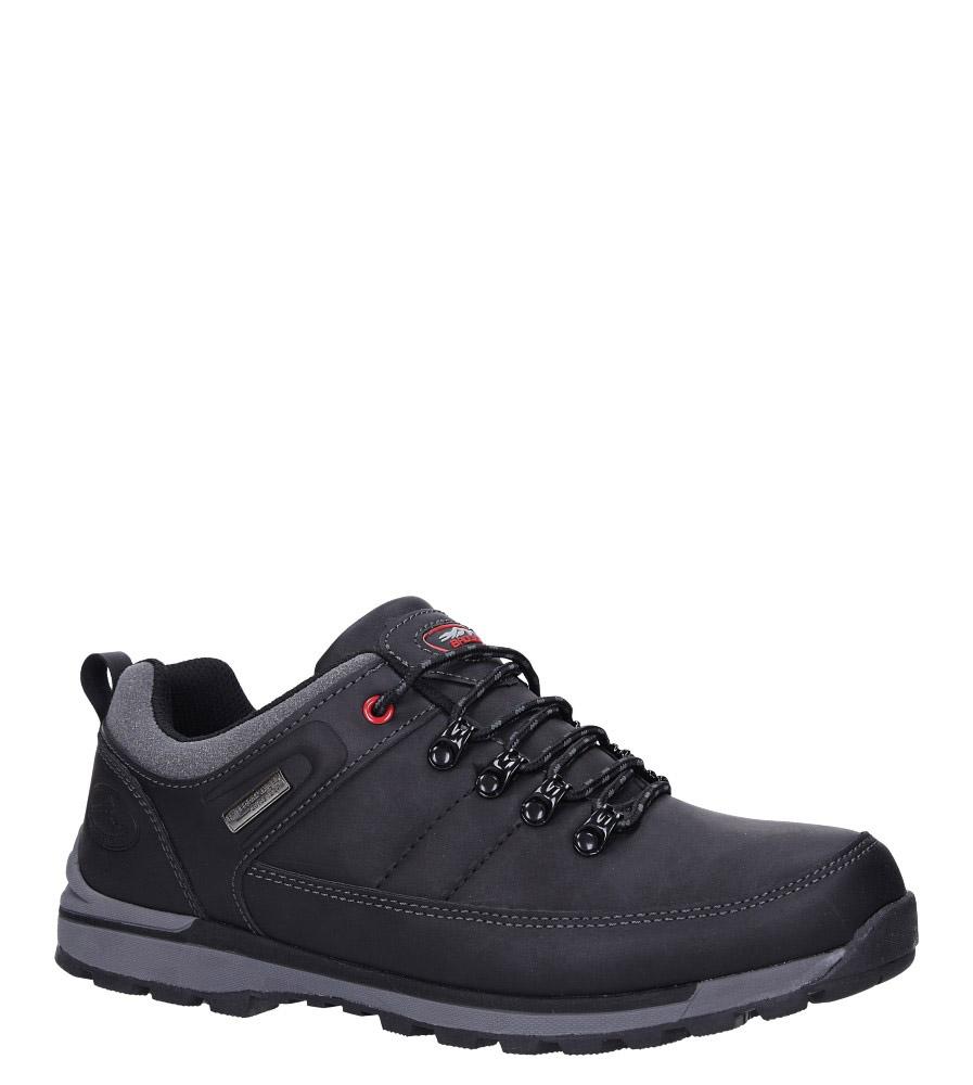 Czarne buty trekkingowe sznurowane Casu MXC7621
