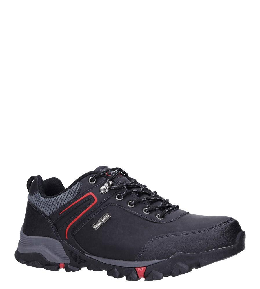Czarne buty trekkingowe sznurowane Casu MXC7663