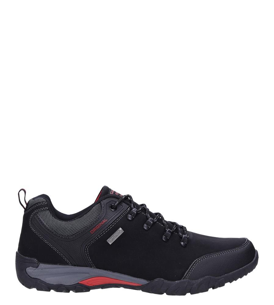 Czarne buty trekkingowe sznurowane Casu MXC7702