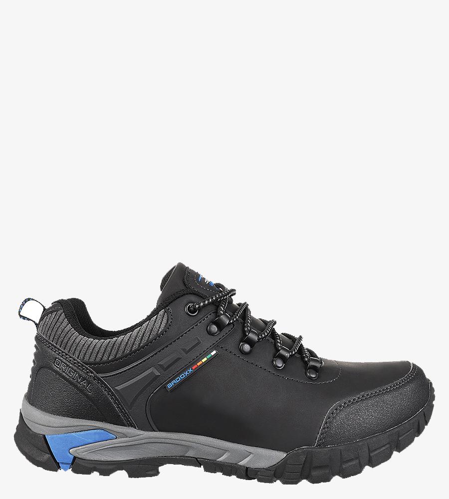 Czarne buty trekkingowe sznurowane Casu MXC7707