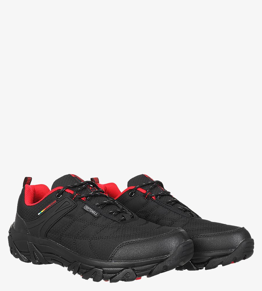 Czarne buty trekkingowe sznurowane Casu MXC8100 sezon Całoroczny